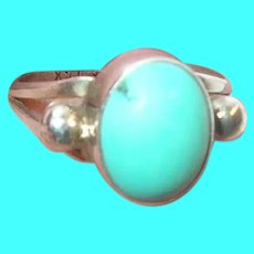 Vintage Sterling Ring Turquoise