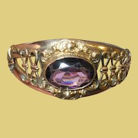 Vintage Gold Filled Hinged Bangle by F.M. Co.