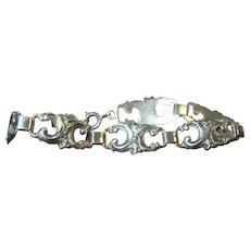 Edwardian 800 Coin Silver Link Bracelet