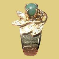 Vintage 14K Gold Filled Jade Ring