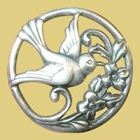 Vintage Sterling Bird Brooch by Coro