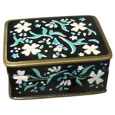 Antique Enamel Pill Box