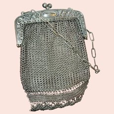 Antique German Silver Mesh Bag