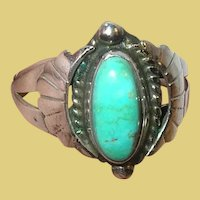 Vintage Sterling Turquoise Native American Ring Old Pawn