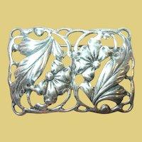 Vintage Sterling Repousse Openwork Brooch by Danecraft