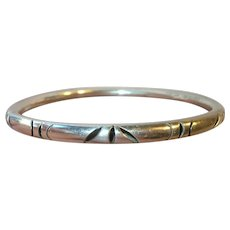 Vintage Sterling Bangle Cut Outs