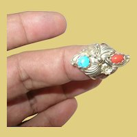 Vintage Sterling Native American Ring by HJ