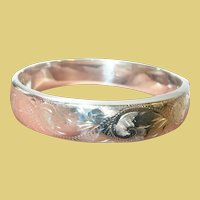 """Vintage Sterling Hinged Bangle By """"C.P.S."""""""