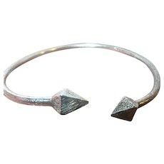 Vintage Sterling Cuff Bracelet Etched Design