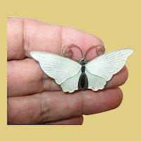 Vintage Sterling Enameled Butterfly By David Andersen