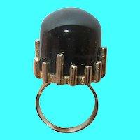 Vintage Vermeil Ring Modernist Design