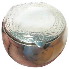 Vintage Sterling Pill Box/Snuff Box