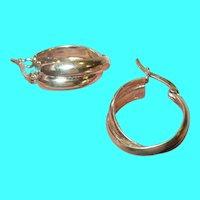 Vintage Sterling Hoop Earrings