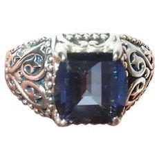 Vintage Sterling Ring Semi Precious Stone