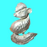 Vintage Sterling Pendant Skunk