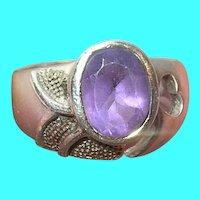 Vintage Sterling Ring Amethyst