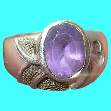 Vintage Sterling Ring Amethyst