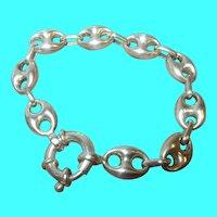 Vintage Sterling Link Bracelet Gucci Links