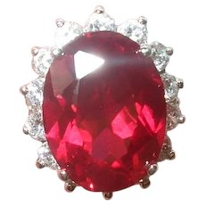 Vintage Sterling Ruby Ring by Suzanne Somers