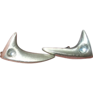 Vintage Sterling Modernist Earrings by H.C. Co.
