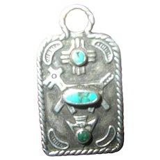 Vintage Sterling Turquoise Pendant