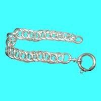 Vintage Sterling Link Bracelet Twisted Design