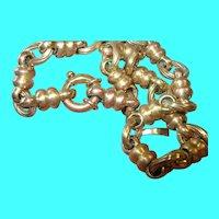 Vintage Italian Sterling Vermeil Link Necklace