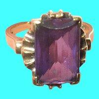Victorian 10K Purple Topaz Ring