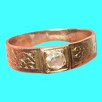 Victorian 10K Child's Ring Rose Cut Diamond