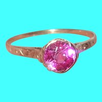 Vintage 10K Ring Pink Sapphire