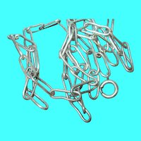 Vintage Sterling Necklace Paperclip Links