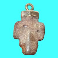 Vintage Fairy Stone Cross Pendant