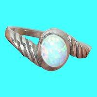Vintage Sterling Ring Opal Doublet