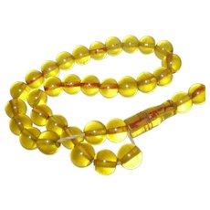 Vintage Apple Juice Lucite Misbaha Prayer Beads