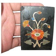 Vintage Inlay Work on Stone Tile