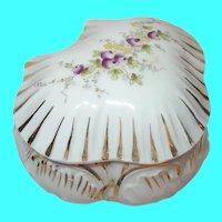 Vintage Vanity Lidded Jar Porcelain by Carlsbad