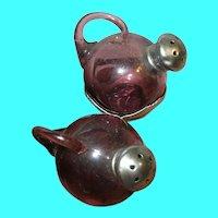 Vintage Salt and Pepper Shakers Art Glass