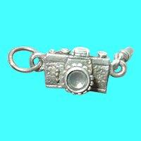 Vintage Sterling 3D Camera Charm
