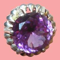 Vintage Sterling Ring Topaz
