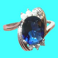 Vintage Sterling Ring Faux Stones