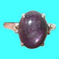 Vintage Sterling Ring Natural Stone
