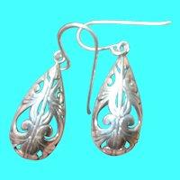 Vintage Sterling Drop Earrings