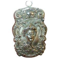 Art Nouveau Sterling Match Safe 1870's