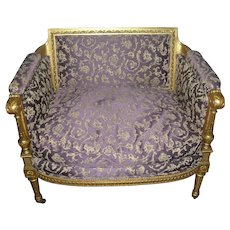 Antique French Silk Chair 1840's
