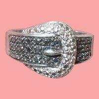 Vintage Sterling Silver Belt Ring
