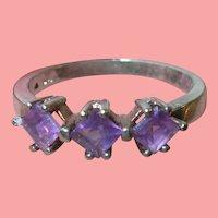 Vintage Sterling Amethyst Ring