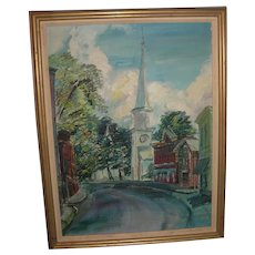 Vintage Oil on Board Painting Signed