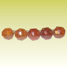 Antique Faceted Amber Brooch