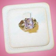 Vintage Sterling & Faux Amethyst Ring