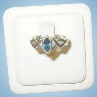 Vintage Sterling Faux Sapphire Ring